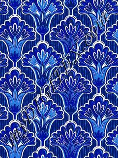 Folk Floral - Dark Blue