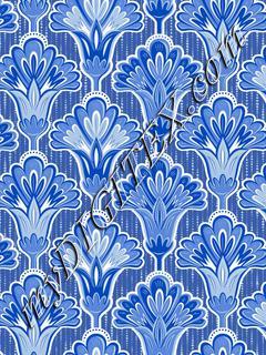 Folk Floral - Light Blue