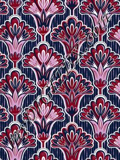 Folk Floral - Orchid & Navy