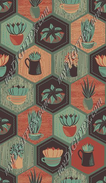 Spiky Succulents - Sage Version