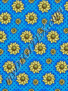 Cheery Sunflowers - Blue