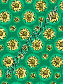 Cheery Sunflowers - Green