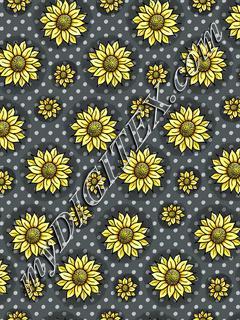 Cheery Sunflowers - Grey