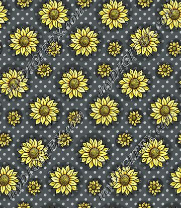 Cheery Sunflowers - Grey