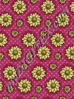 Cheery Sunflowers - Plum