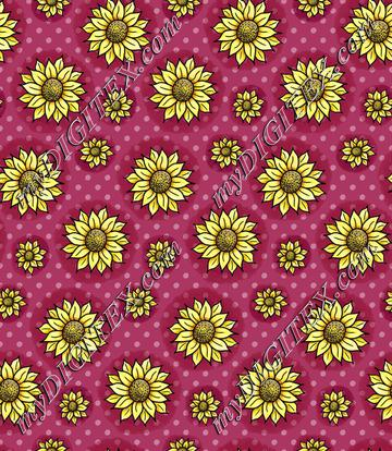 Cheery Sunflowers - Plum