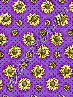 Cheery Sunflowers - Purple