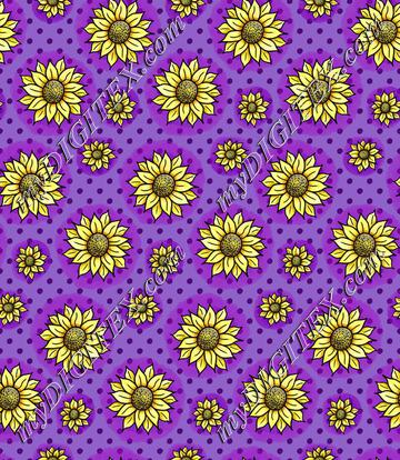 Cheery Sunflowers - Purple