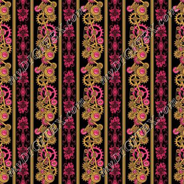 Steampunk Damask Stripe