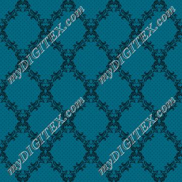 1lvermorny Blue Damask
