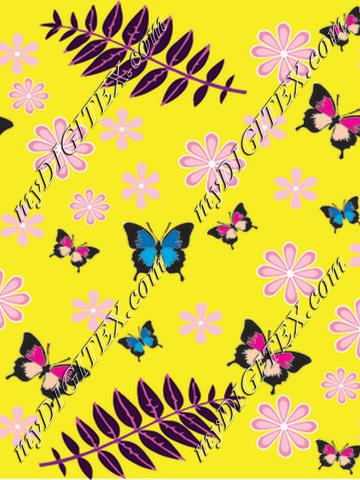 butterfly leaves motif 2