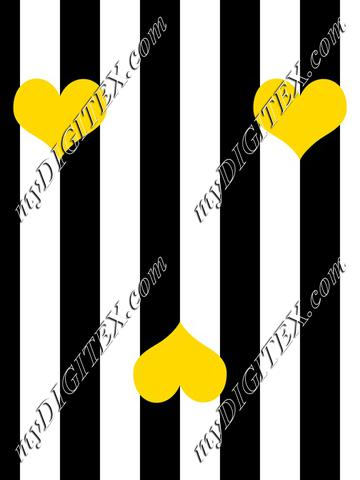 Big stripe with hearts