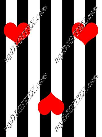 Wide stripe with hearts