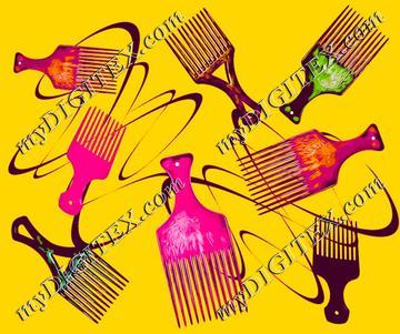 Afro comb-Orange
