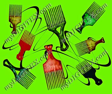 Afro comb-Green