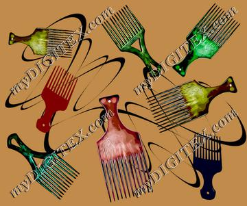 Afro comb-Brown
