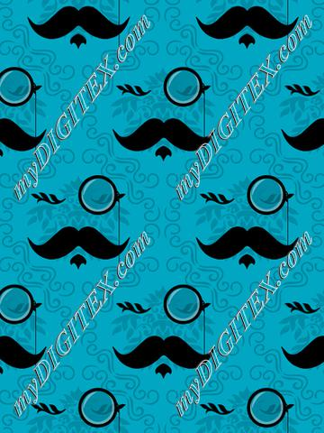 Monocles & Mustaches (teal)