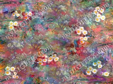 marbled daisies and blossoms300