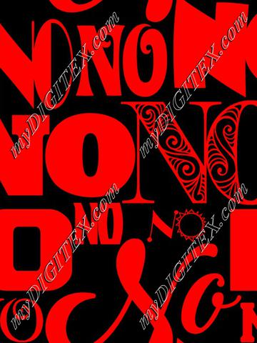 NO (red on black)