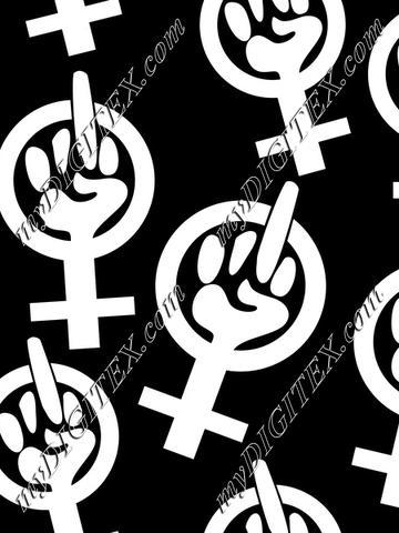 Feminist Finger (white)
