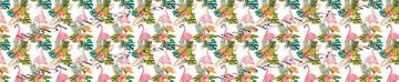 Tropical Vibes Flamingo White