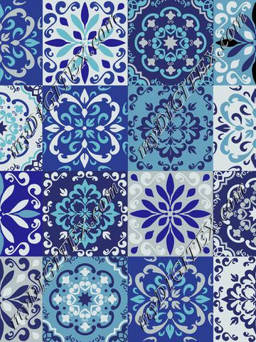 Moroccan ceramic tile blue