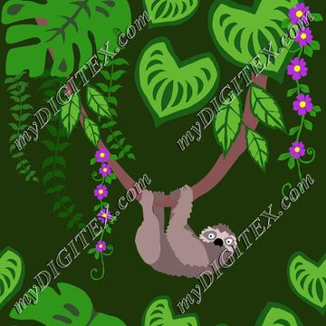 Sloth tropical animal in the rainforest