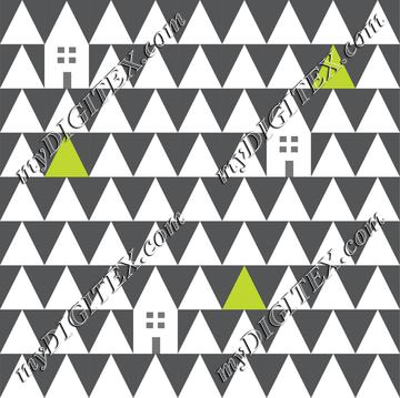 Triangle home with tree