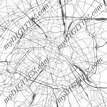 Paris street map lines