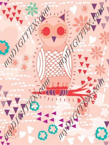 owl in pinks