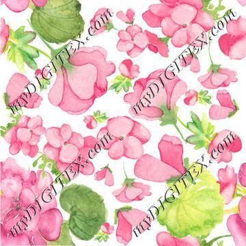 Geranium pattern bright pink