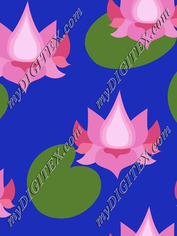 Pink lotusflowers on royal blue