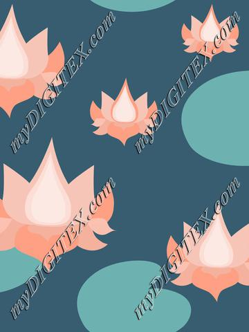 Living coral lotusflowers on navi green lake