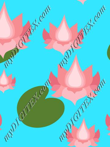 Pink lotusflowers on blue lake