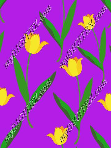 Yellow tulips on purple