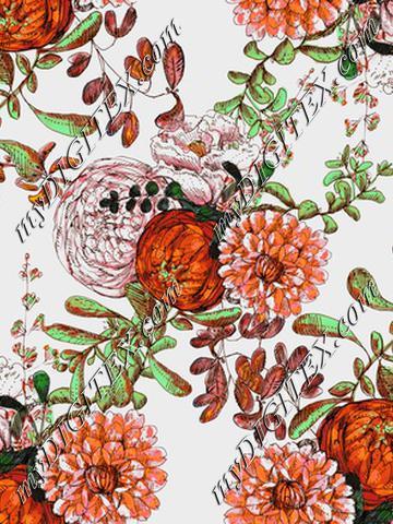 floral pattern large scale pumkin