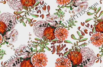 floral pattern large scale pumkin