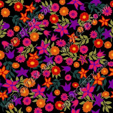 Ditsy prints bright blooms colorful florals