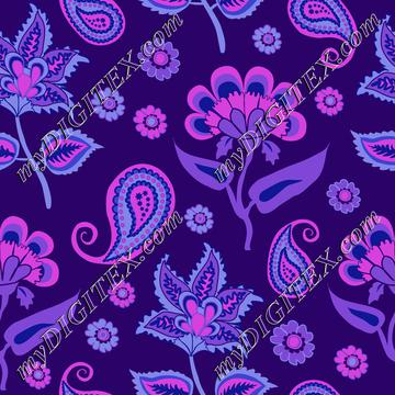 Oriental Pasleys Kalamkari purple