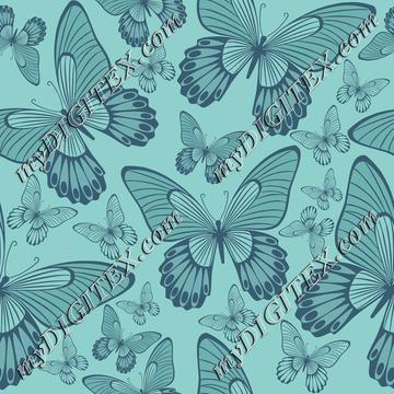 Butterflies on Turqoise green
