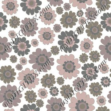 Warm neutrals flowers on white
