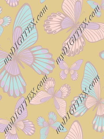 Pastel colours butterflies