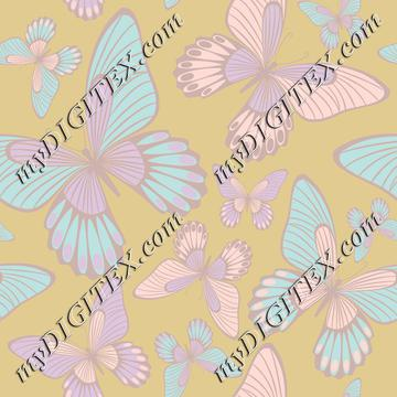 Pastel colours butterflies
