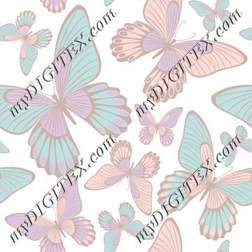 Butterflies light pastel colors