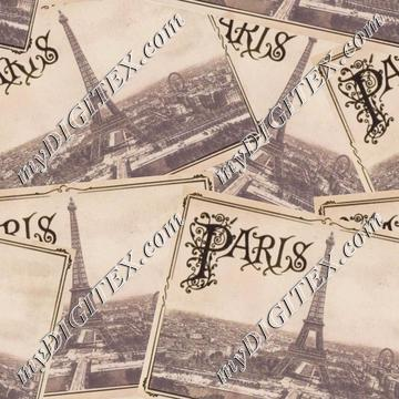 Retro Paris Postcards