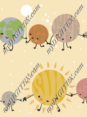 cute solar system pastel