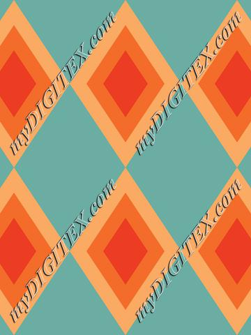 Retro Rhombus Pattern