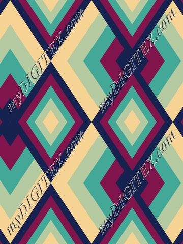 Abstract Geometric Retro Pattern