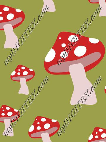 Red Mushroomsfly agaric or fly amanita Autumn