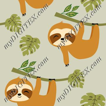 Cute Baby Sloths in Tropical Jungle
